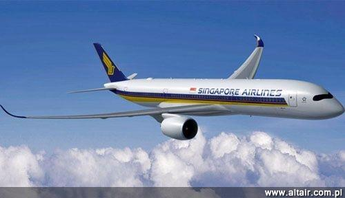 Airbus A350-900 w barwach Singapore Airlines / Rysunek: Airbus