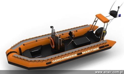 Jednym z zamówionych przez francuską marynarkę wojenną produktów Sillingera są 6,5-m  łodzie półsztywne. Są one w stanie zabrać na pokład do 18 osób. Ich masa wynosi 745 kg. Mogą przenosić ładunek do 2520 kg / Zdjęcie: Navy Recognition