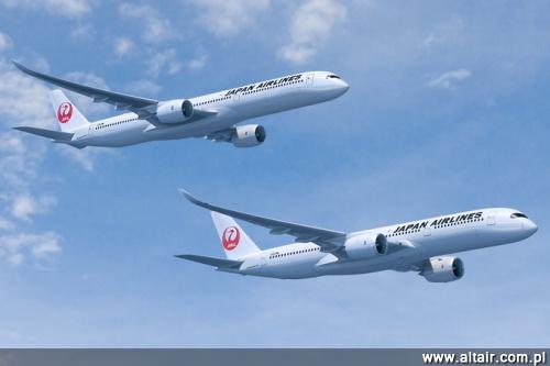 A350-900 i A350-1000 w barwach Japan Airlines / Rysunek: Airbus