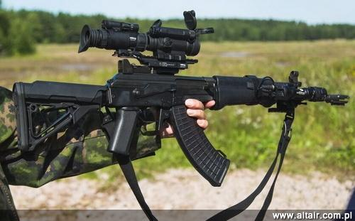 The prototype of the modernized 7.62-mm automatic rifle RK 62M presented at the beginning of August.  Until this standard is to be adapted most of the models used by the Finnish army / Photo: MO Finland