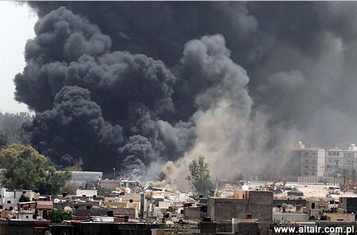 Znalezione obrazy dla zapytania bombardowania libii