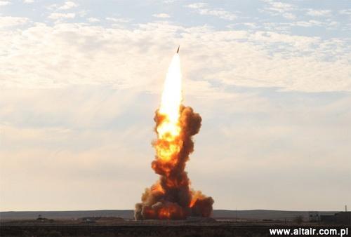 Comience antybalistycznego misiles 53T6 durante las pruebas en el rango de Sary Shagan en Kazajstán el 26 de octubre de 2010 / Foto: Mikhail Chodarenko